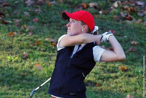 Austin Peay Women's Golf leads Belmont Bruins by eight strokes after first round at Gulf Shores. (APSU Sports Information)