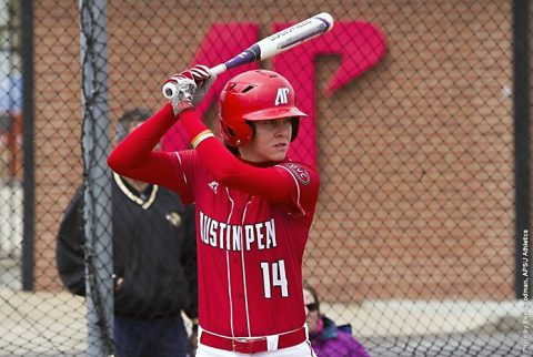 Austin Peay Softball sophomore Kendall Vedder hit a two run home run against Northern Illinois, Saturday. (APSU Sports Information)