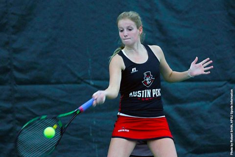Austin Peay Women's Tennis kicks off OVC Season with 5-2 win over Tennessee State Tigers Friday. (APSU Sports Information)