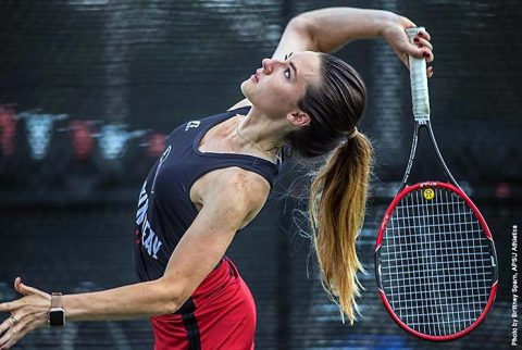 Austin Peay Women's Tennis gets 6-1 victory over Jacksonville State at APSU Tennis Courts, Saturday. (APSU Sports Information)