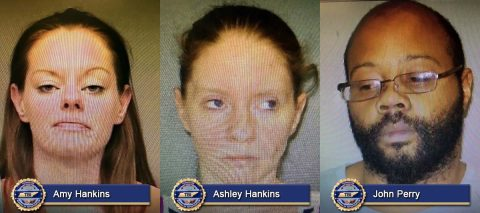 Amy Hankins, Ashley Hankins and John Perry arrested in 2016 Stewart County Murder