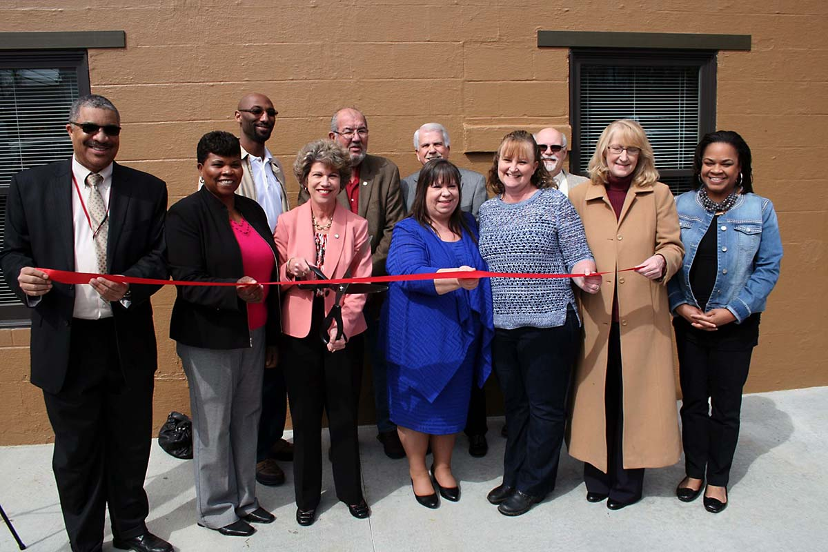 SafePlace, a new transitional center to help homeless families, was dedicated for use Wednesday by the City of Clarksville, Urban Ministries and THDA.