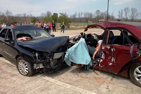 Mock Crash Exercise held at the Clarksville Academy Complex today.