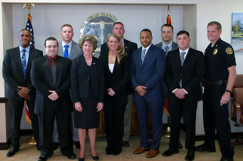 (L to R) Graves, Torres, Baker, Mayor McMillian, Goldberg, Burton, Anthony, Sutton, Rasche, Chief Ansley.