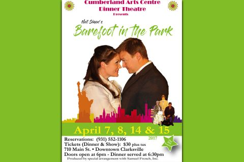 "Neil Simon's ""Barefoot in the Park"" to be performed at the Cumberland Arts Centre Dinner Theatre April 7th - 15th"