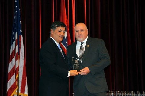 MCSO's Darrell Allison receives the United States Attorney Award for Excellence in Law Enforcement.
