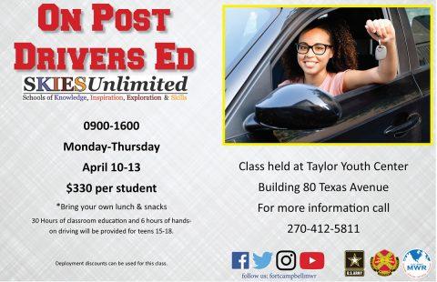Drivers Ed On Post Spring Break Class