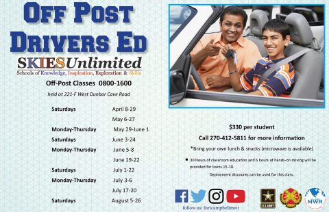 Drivers Ed off post spring 2017