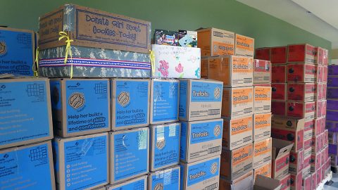 Girl Scouts of Middle Tennessee (GSMIDTN) donated 37,444 boxes of Girl Scout Cookies to Fort Campbell soldiers