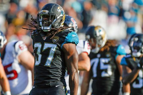 Jacksonville Jaguars strong safety Johnathan Cyprien (37) agrees to contract terms with the Tennessee Titans. (Logan Bowles-USA TODAY Sports)