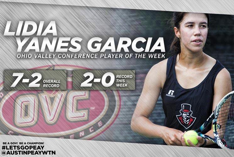 Lidia Yanes Garcia Named OVC Player of the Week