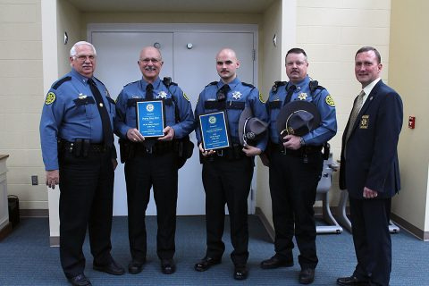 Montgomery County Sheriff Deputies Steve Moss and Paul Hunt were honored by the Clarskville Civitan Club.