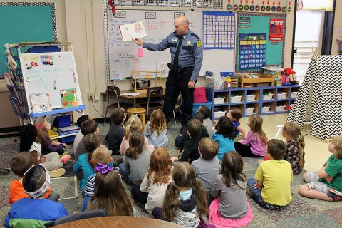 Deputies with the Montgomery County Sheriff's Office, for Read Across America Week, read books at classrooms across the county.