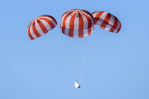 SpaceX's Dragon cargo spacecraft returned to Earth from the International Space Station loaded with science and technology samples. (NASA)