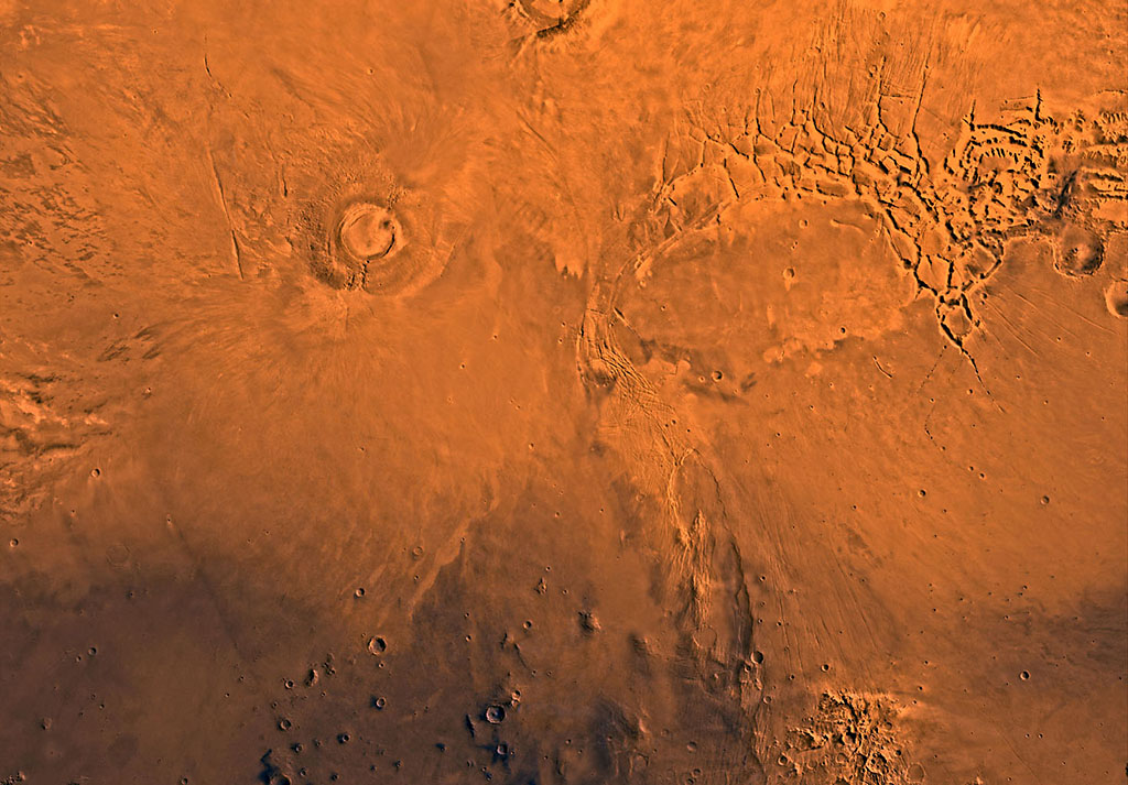 nasa mars volcano biggest one - photo #18