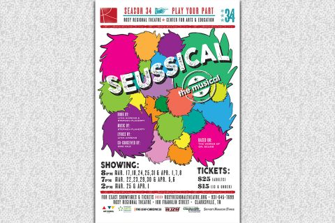 "The Roxy Regional Theatre presents ""SEUSSICAL: The Musical"", March 17th - April 8th."