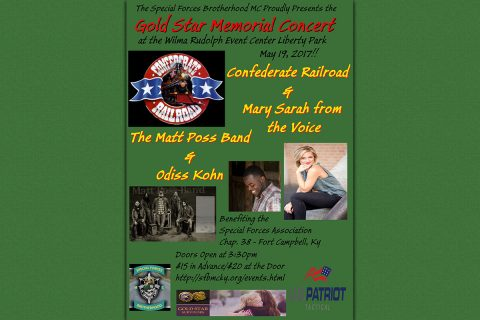 Special Forces Brotherhood Motorcycle Club to hold Gold Star Memorial Concert May 19th, 2017
