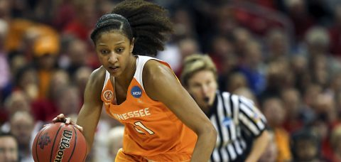 Tennessee Lady Vol Jaime Nared scores 28 points in loss; Mercedes Russell posts 19th double-double of season. (Tennessee Athletics Department)