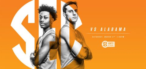 Saturday's Tennessee Men's Basketball Senior Day ceremonies at Thompson-Boling Arena get underway at 1:40pm CT. (Tennessee Athletics Department)