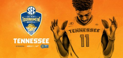 The ninth-seeded Tennessee Vols meet the eighth-seeded Georgia Bulldogs on Thursday, March 9th at 12:00pm CT on the SEC Network. (Tennessee Athletics Department)