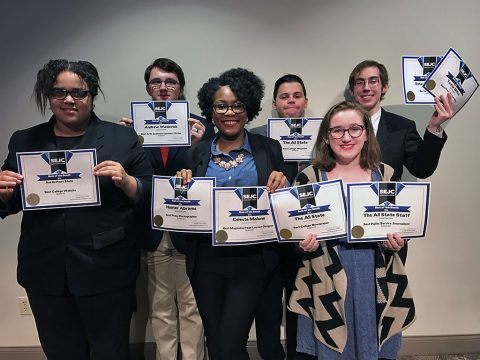 The All State staff won 10 awards Friday at Southeast Journalism Conference.