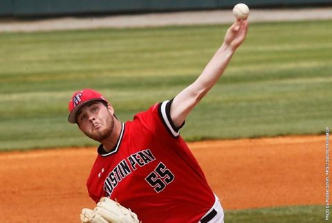 Austin Peay Baseball junior pitcher Josh Rye keeps Morehead State hitless through five innings in Governors 3-1 win. (APSU Sports Information)