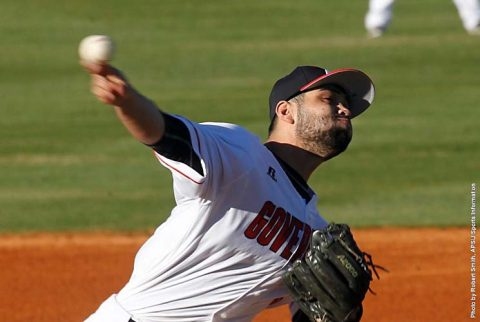APSU Baseball pitcher Alex Robles shines in Governors victory over UT Martin Skyhawks Satuday night. (APSU Sports Information)