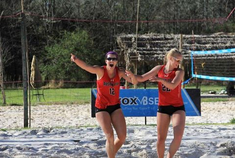 Austin Peay Beach Volleyball kicked off Governors Beach Challenge at Nashville Beach, Friday. (APSU Sports Information)