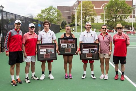 Austin Peay Men's Tennis gets 4-3 win over Eastern Kentucky on Senior Day. (APSU Sports Information)