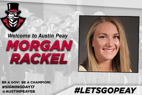 APSU Softball signs Morgan Rackel. (APSU Sports Information)