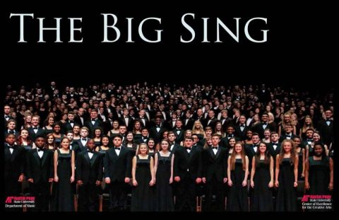 "APSU Chamber Singers and University Choir, Mt. Juliet High School and Station Camp High School will come together Tuesday, April 11th for the fourth annual ""The Big Sing"" at Austin Peay."