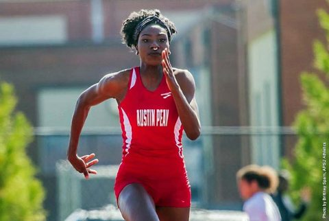 Austin Peay Track and Field senior Kaylnn Pitts won the triple jump at Hilltopper Relays, Saturday. (APSU Sports Information)