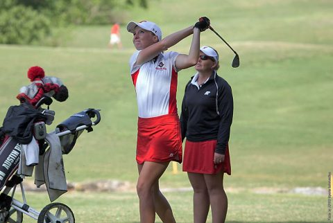Austin Peay Women's Golf sophomore Taylor Goodley shots a 71 to move into 11st place at OVC Championships. (APSU Sports Information)