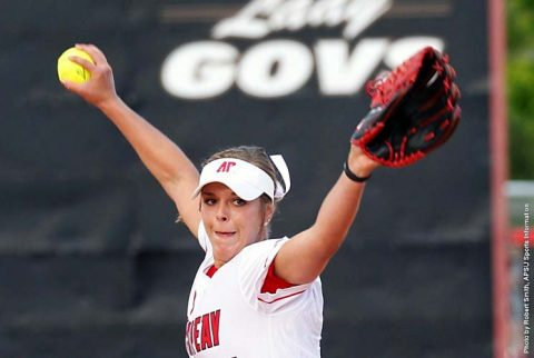 Austin Peay Softball pitcher Kelsey Gross held Belmont Bruins to just four hits Monday at Cheryl Holt Field. (APSU Sports Information)