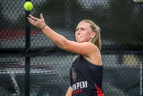 Austin Peay Women's Tennis falls at Murray State, 4-3 Wednesday afternoon. (APSU Sports Information)