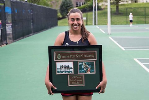 Austin Peay Women's Tennis fell 5-2 to Eastern Kentucky on Senior Day Friday afternoon. (APSU Sports Information)