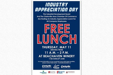 Annual Industry Appreciation Lunch to be held May 11th