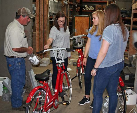 Clarksville Parks and Recreation staff and Clarksville Academy students worked Friday to assemble new BCycles for two new stations for the City's bike-sharing program.