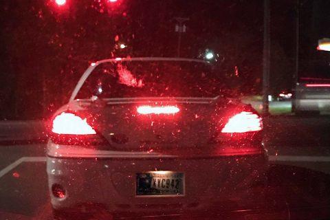 Suspect's Pontiac Grand Am, Indiana tag XYC942.
