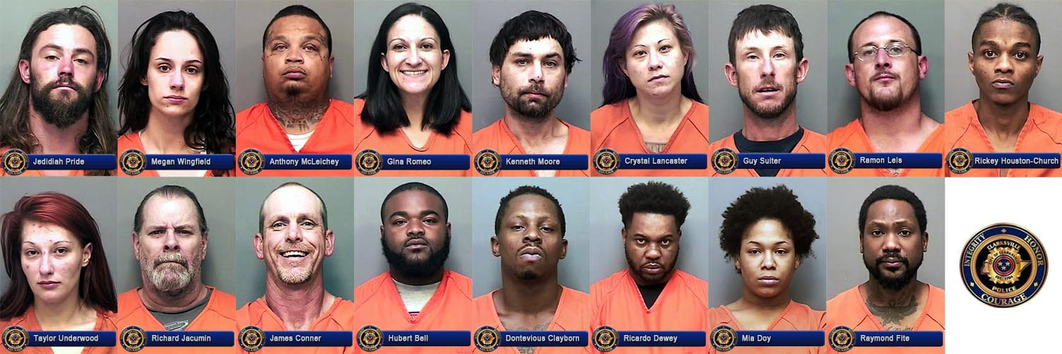 Eight Month Long Drug Investigation in Clarksville Results in Arrests and Seizures