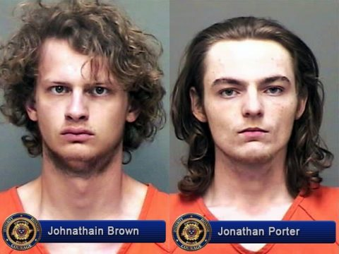 Johnathain Brown and Jonathan Porter were arrested Sunday, April 16th by Clarksville Police for Burglary and Evading arrest.