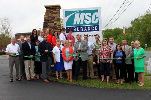 Mann, Smith & Cummings (MSC) Insurance Green Ribbon Cutting Ceremony.