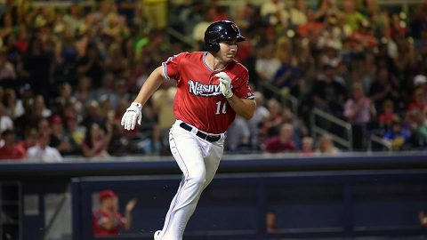 Nashville Sounds Score Five Runs With Two Outs in the Ninth Inning but Fall 6-5 to Colorado Springs Sky Sox. (Nashville Sounds)