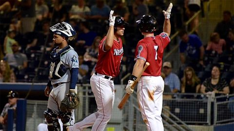 Nashville Sounds send two long in 4-1 win over New Orleans Baby Cakes at First Tennessee Park Friday night. (Nashville Sounds)
