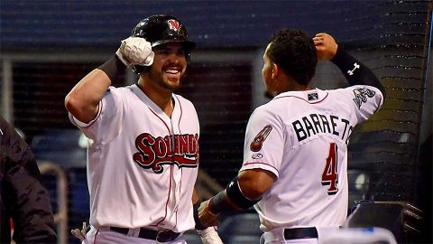 Nashville Sounds get 3-1 home opening win over Oklahoma City Dodgers Tuesday night. (Nashville Sounds)