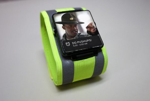 Army officials on Saturday announced it will soon field this personal fitness bracelet that will allow Army leaders to track their Soldiers' fitness in real time. The technology will enable Army leadership to monitor their Soldiers' activity level, physical location, and intake of foods, liquids, and other substances. (U.S. Army)