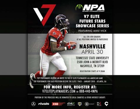 V7 Elite Future Stars Showcase Series event set for April 30th at Tennessee State University.