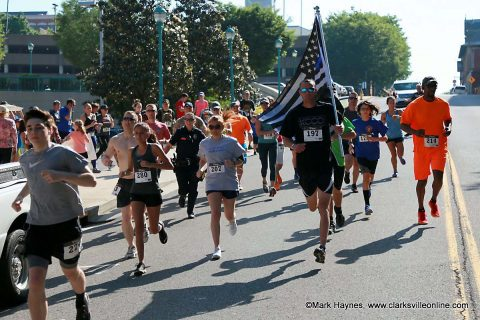 Clarksville Police Department's annual Run for C.O.P.S. 5k Run-Walk