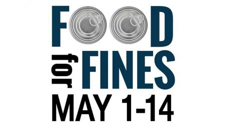 Clarksville-Montgomery County Public Library is bring back its Food for Fines to be held May 1st-14th, 2017.