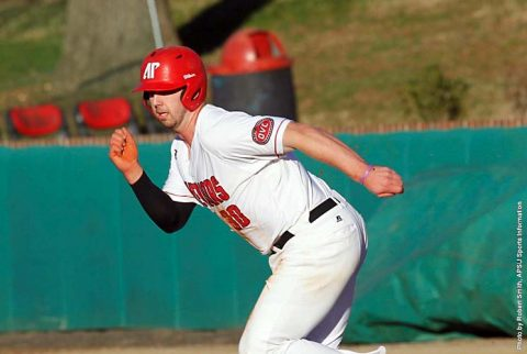 APSU Baseball was behind 11-6 in the bottom of the ninth but comes back to beat Lipscomb 14-11 Wednesday afternoon at Raymond C. Hand Park. (APSU Sports Information)